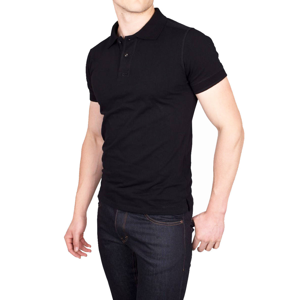 T11 Cotton Polo - Black