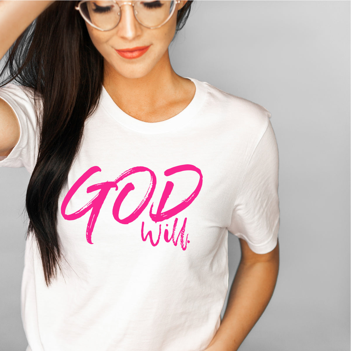 Neon God will Premium Heather T-shirt