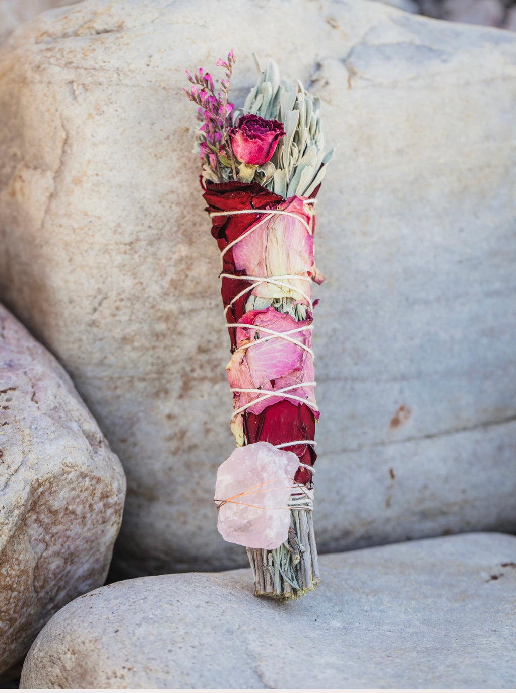 Rose Quartz + Sage Bundle
