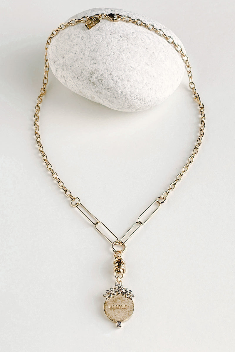 Amour Chain Link Necklace