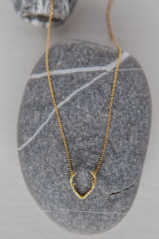 Rising Sun Diamond + Stone Necklace
