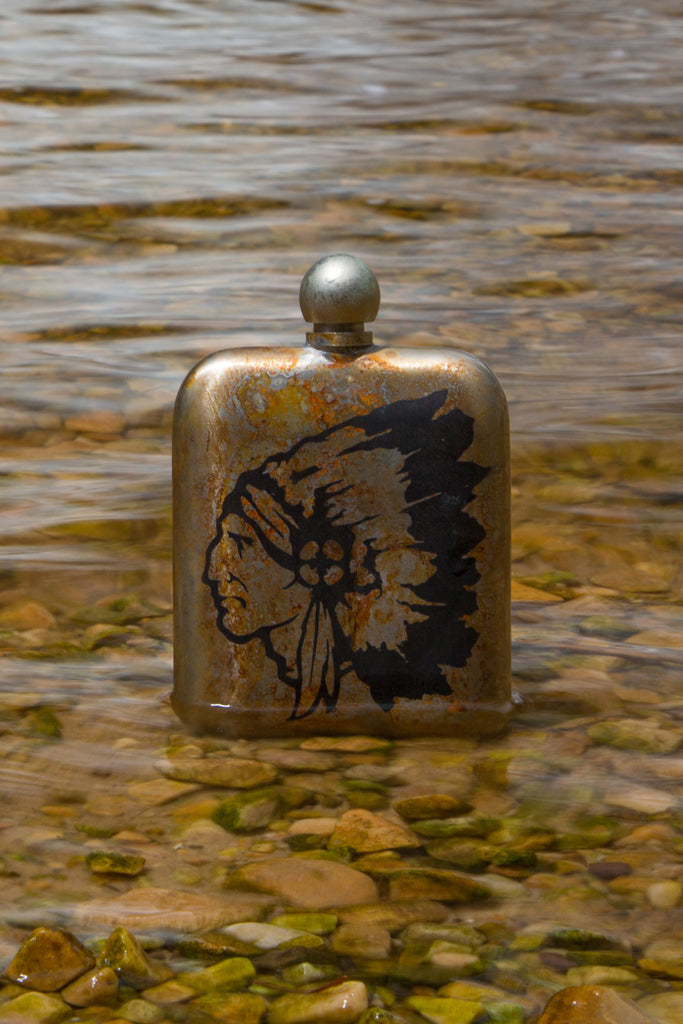 Whiskey Flask - Chief