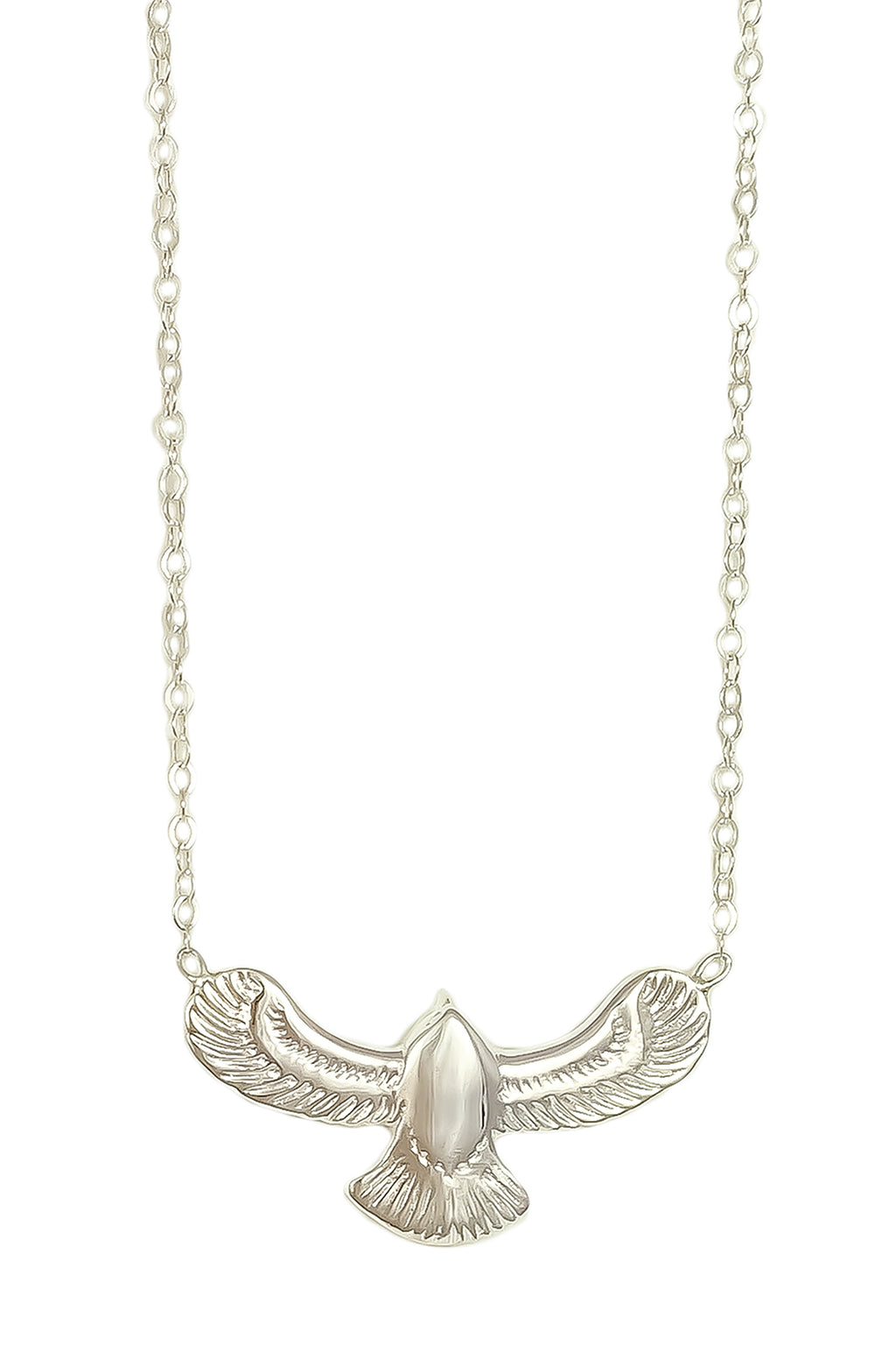 Free Spirit Eagle Necklace - Silver