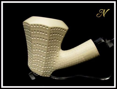 Bent Poker Paneled Meerschaum Pipe Special Built w/out Screws Wide Chamber