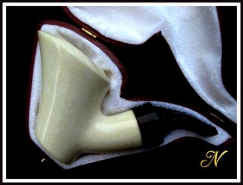 Bent Poker Sitter Meerschaum Pipe Special Built w/out Screws Wide Chamber