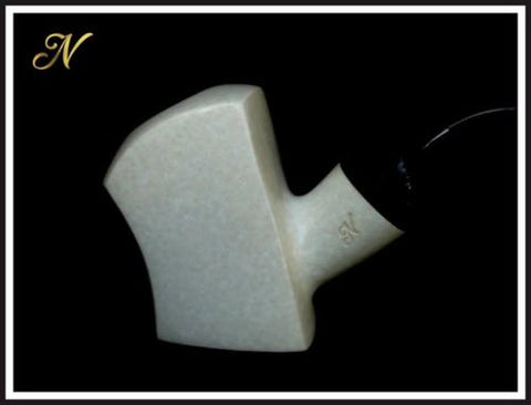Genuine Small Block Meerschaum Tobacco Pipe With Case Hand Carved Claw Egg