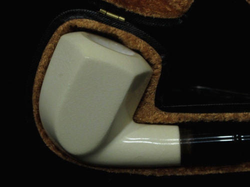 9mm Filtered Bent Block Meerschaum pipe Rare Acrylic System without Screws 2230