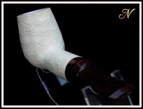 Billiard Meerschaum Pipe Special Built w/out Screws Wide Chamber Short Stem 9139
