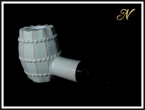 Beer Barrel Poker Meerschaum Pipe Special Built Amber Acrylic Stem Sitter 84112