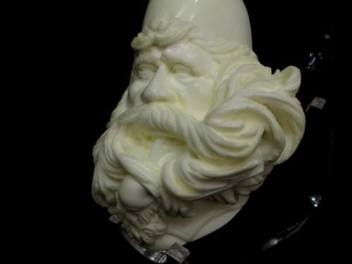 Pipe smoking Fez Man Meerschaum Pipe 'known as Dunhill man' Mustache, Beard 7632