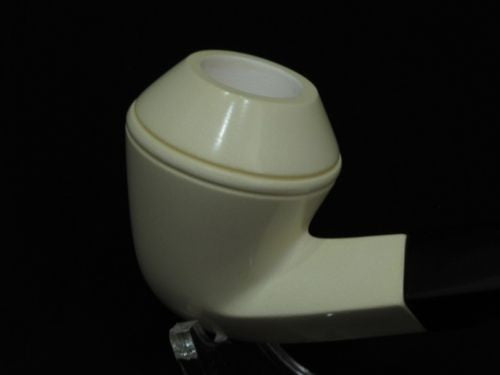 Bent Bulldog Smooth Block Meerschaum Pipe Acrylic stem Big Bowl Pipes eBay 9022