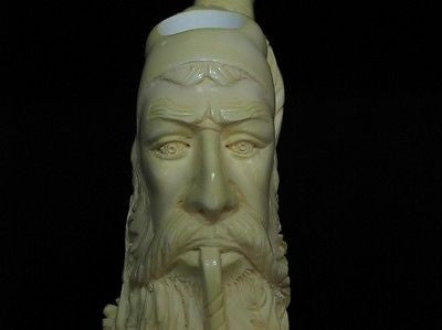 Pipe smoking Fez Man Angels Meerschaum Pipe Known as 'Dunhill pipe' Sitter 5827