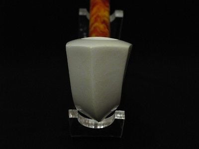 Smooth Paneled Block Meerschaum Pipe Long stem Light weight Gift case Ideal 0357