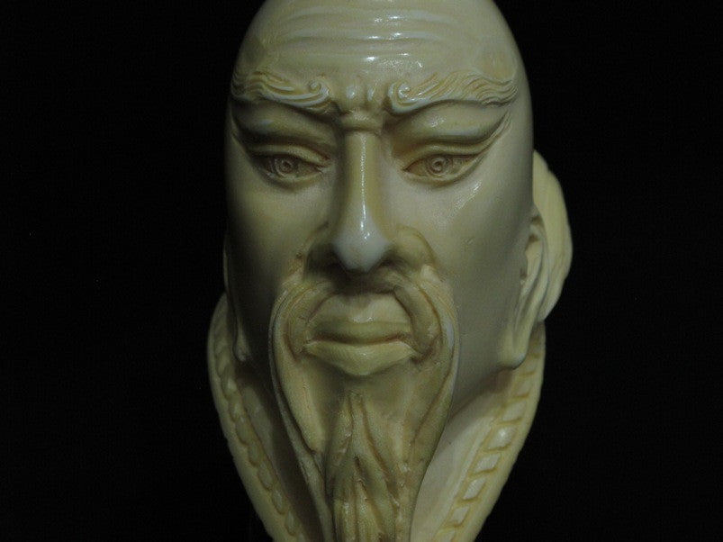 Confucius Chinese teacher Meerschaum Pipe Full bent Figurative Gift Birthday1176