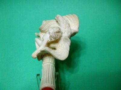 Man Eagle Thesaurus Prominent Meerschaum Pipe Mythological Ancient Vintage 2236
