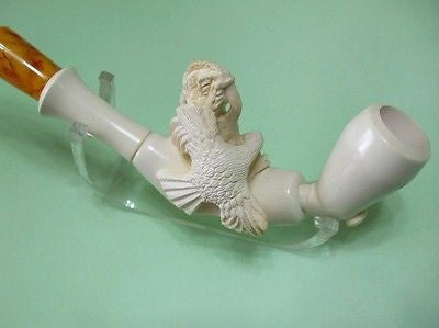 Greek Mythology Ancient Meerschaum Pipe Zeus Titan Hellenistic Vintage look 0704