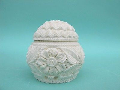Floral Decorative Meerschaum Stone Jewelry Trinket Box Unique Gift women 4498