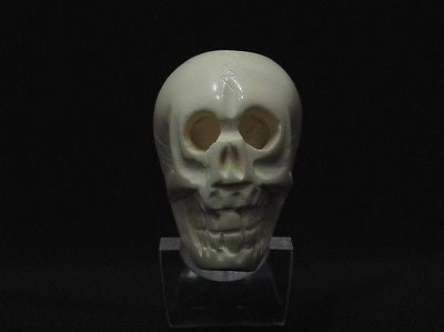 Skull Horror Tobacco Block Meerschaum Pipe Hand Made Gift Case Stand Pouch 3246