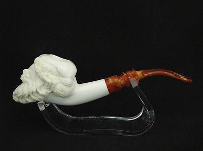 Santa Claus Meerschaum Pipe Kris Kringle Hand made carved Pipes Gift Case 5062