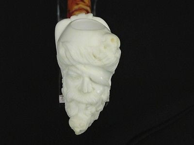 Pipe Smoking Pirate Block Meerschaum Pipe Bandana Sale Pipes Gift Case ebay 8880