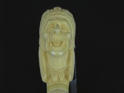 Native Chief Block Smoker Meerschaum Pipe made by EMIN Freehand Gift Case 2044