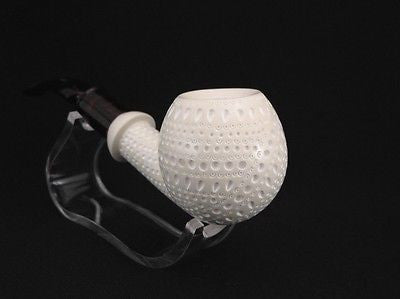 9 mm Filter Lattice Danske Apple Block Meerschaum Pipe Gift Case Big Bowl 7282