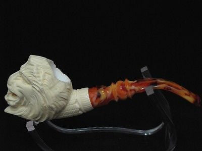 Wild Lion Meerschaum Pipe Animal by Emin FreeHand Vintage looks Ebay Meerco 1219