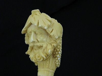 Smiling Bacchus Facing smoker Meerschaum Pipe tobacco smoking pipes on ebay 2963