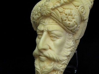 Giant Size Ottoman Pasha Block Meerschaum Pipe Collectible Vintage looks 8216