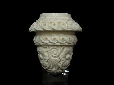 Floral Celtic Calabash Block Meerschaum Pipe by Emin Gift Pipes Big Bowl 4985