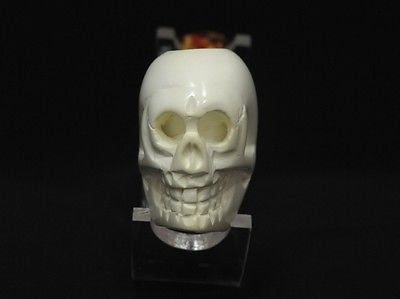 Bent Skull Horror Block Meerschaum Pipe Scary Hand Made Turkey Gift Case 7743