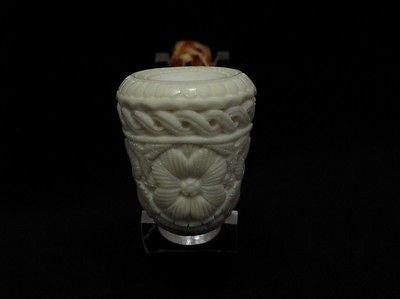 Floral Celtic Block Meerschaum Pipe Freehand Long Eclipse Shank Good size 1773
