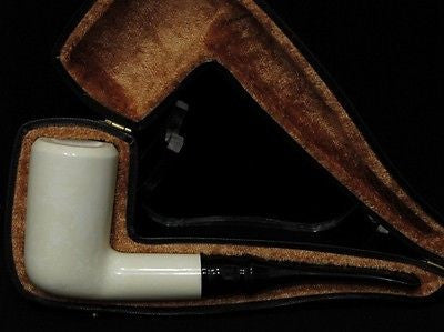 Excellent Smooth Straight Block Meerschaum Pipe Colors fast Rare meer stone 5375