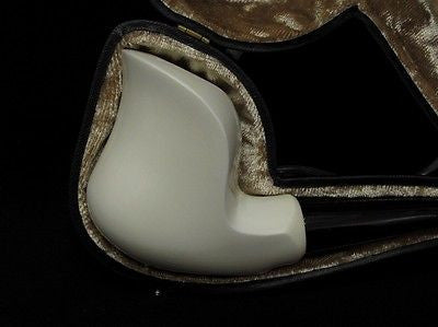 Smooth Big Bowl Cobra Block Meerschaum Pipe Acrylic mouth piece Christmas 8915