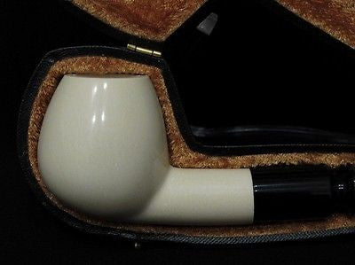 Smooth Straight Apple Block Meerschaum Pipe Freehand sea foam Colors fast 5337