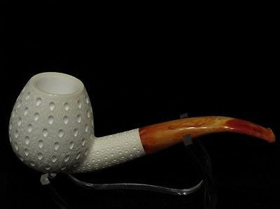 Lattice Apple Billiard Meerschaum Pipe Tobacco Freehand Big Bowl Gift Case 6148