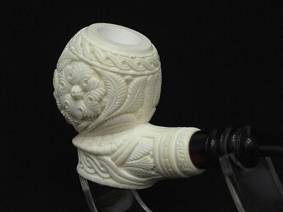Floral Meerschaum Pipe Flower pipes Emin Free Hand Gift Case Big Bowl eBay 6168