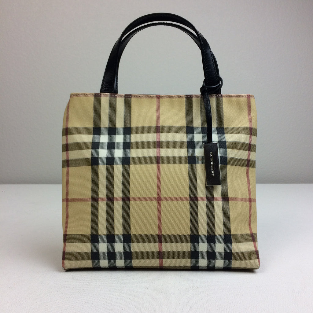 16161ea58e29 Burberry Blue Label Nova Check Tote Bag Made in Italy MSRP  600 – RE SHOP  BOUTIQUE