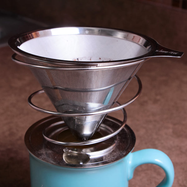 Pour Over Drip Coffee Maker with Stainless Steel Microfilter and Stand