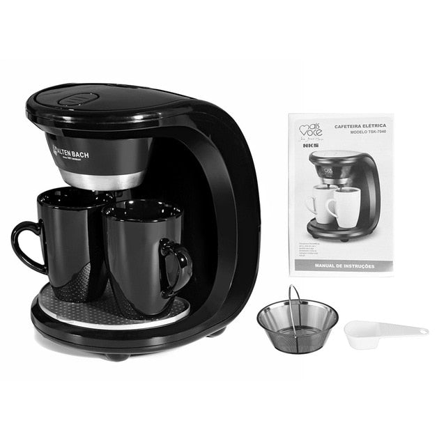 Dual Cup Electric Drip Coffee Maker