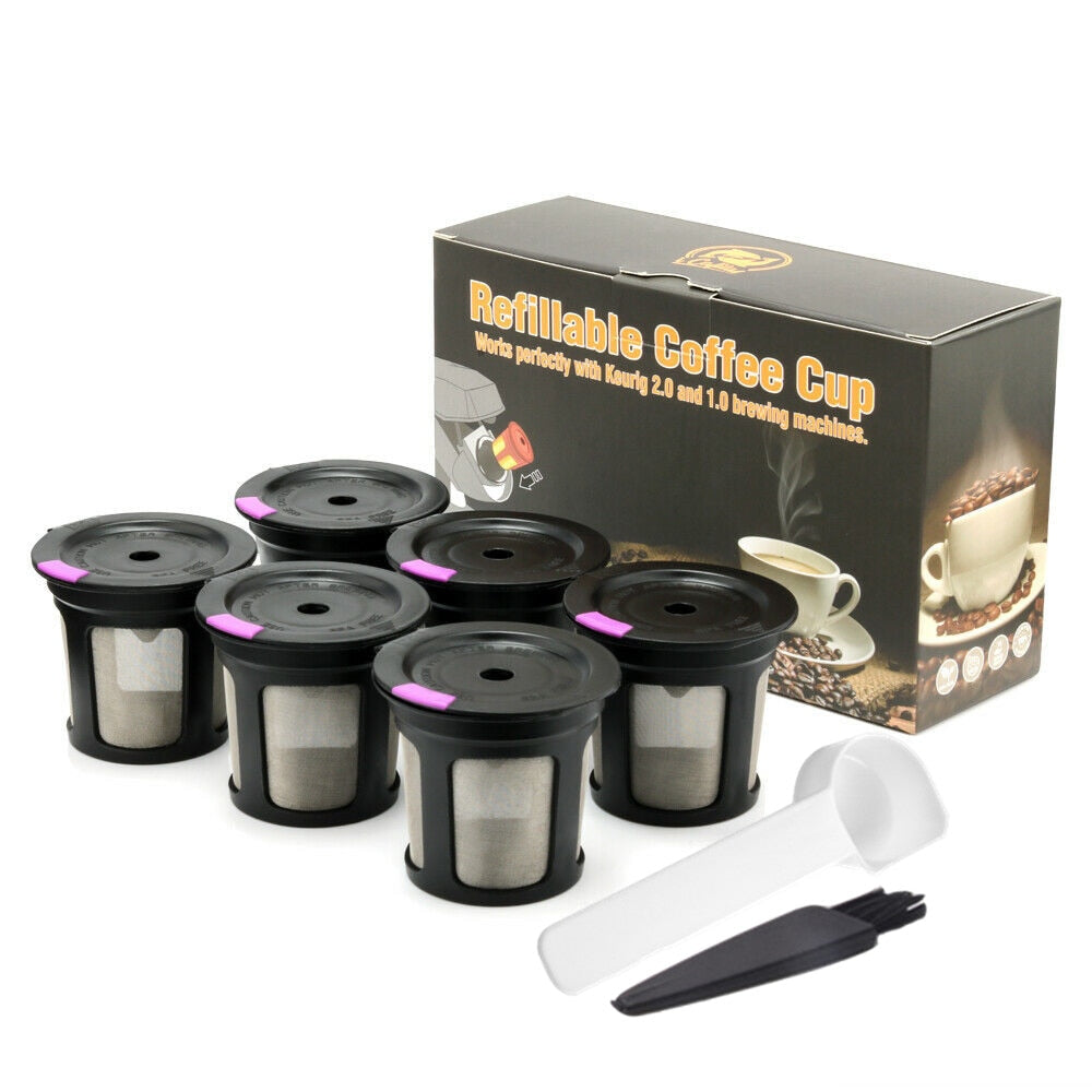 Coffee K-Cup Pod Filters Compatible with Keurig 1.0 & 2.0 K Cup Coffee Refillable Reusable Coffee Filters Baskets