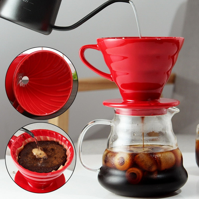 Ceramic Pour Over Coffee Maker - Reusable and Eco Friendly!