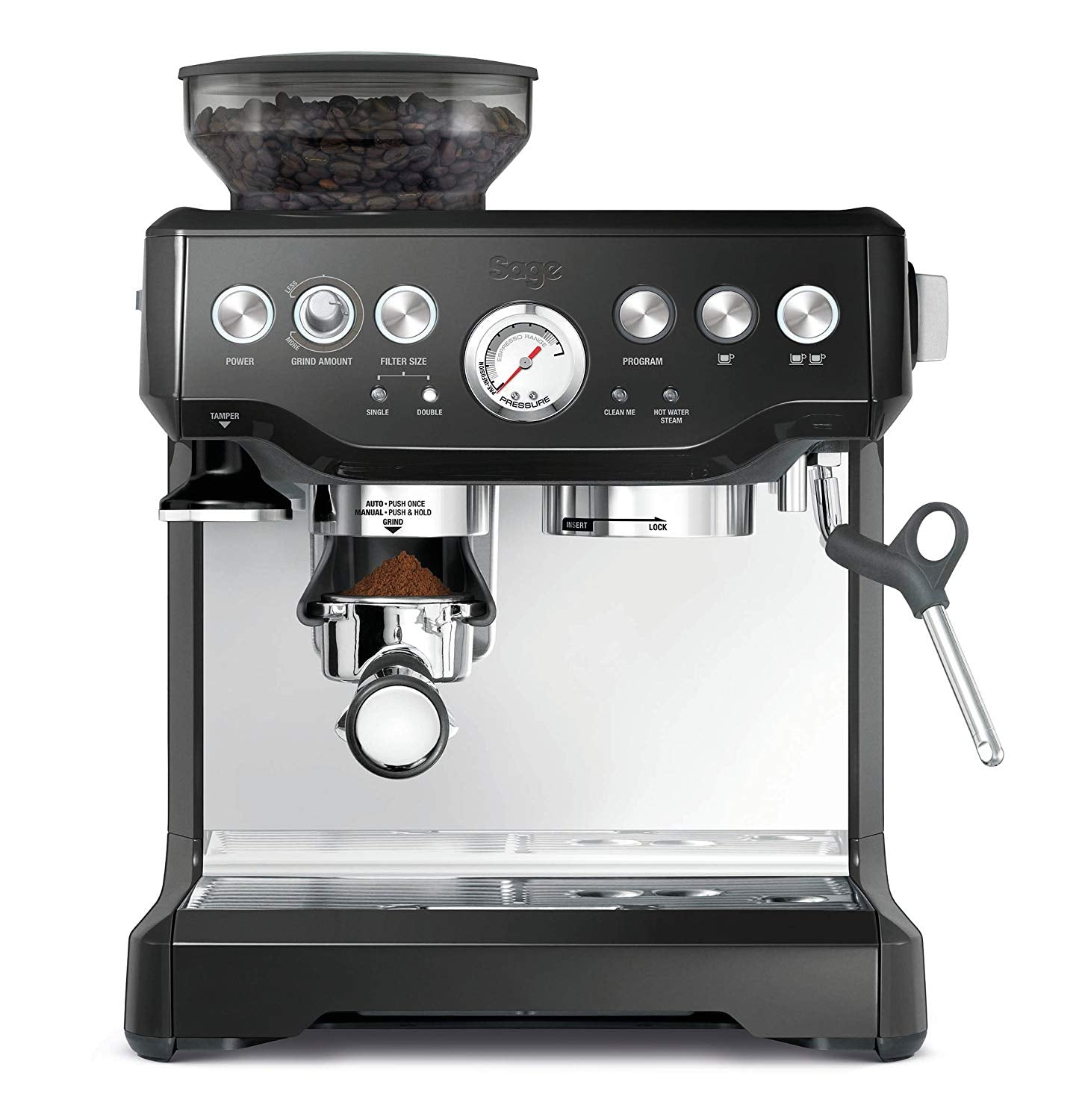 All-In-One  Pro Quality Espresso Coffee Maker Semi Automatic - Grinds Beans, Froths Milk