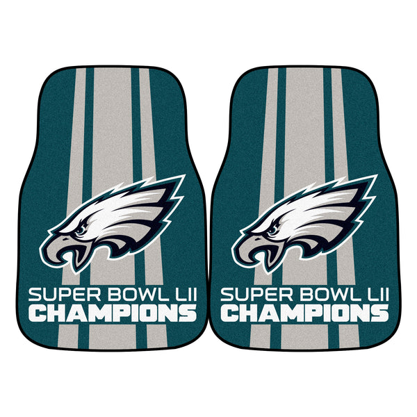 Philadelphia Eagles Super Bowl LII Carpet Car Floor Mats