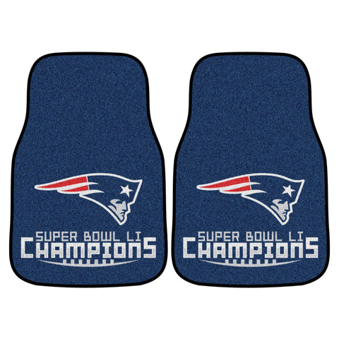 New England Patriots Carpet Car Floor Mats