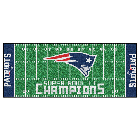 New England Patriots Super Bowl LI Football Field Floor Runner