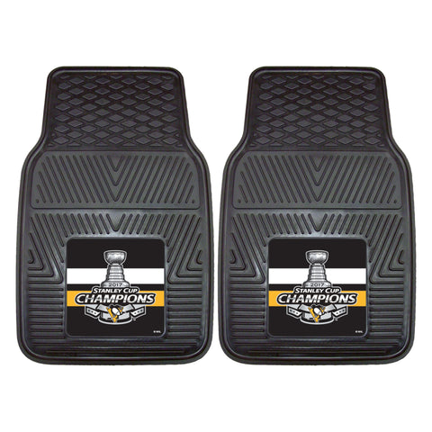 2 Pittsburgh Penguins Car Vinyl Mats
