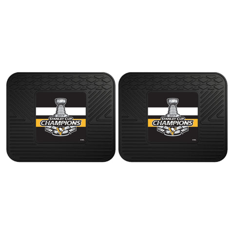 2 Pittsburgh Penguins Stanley Cup Champions Car Floor Mats