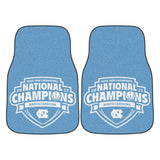 2 UNC Tar Heels Carpet Car Mats