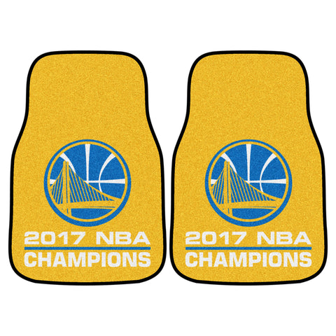 2 Golden State Warriors Car Carpet Mats